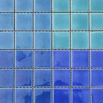 Ice crackle ceramic mosaic tiles for swimming pool, measures ...