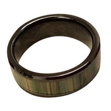 Taiwan RFID Ceramic Ring, Black, Customized Pattern, Non