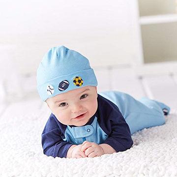 121a14ef China 100% Cotton Newborn Hats Super Soft Cute Hats Unisex Baby Hats ...