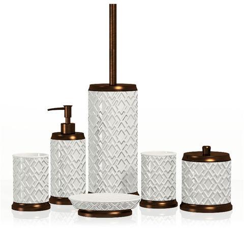 Geometric Style Bathroom Accessories, Looking For Bathroom Accessories
