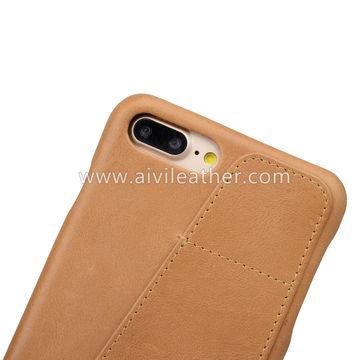 China Unique Design Back Phone Leather Case for iPhone 8 Plus