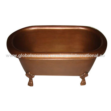 Copper baby bathtub with claw foot | Global Sources