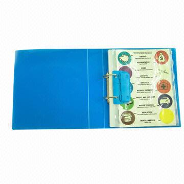 2 ring binder folder includes clear book file bag and sheet