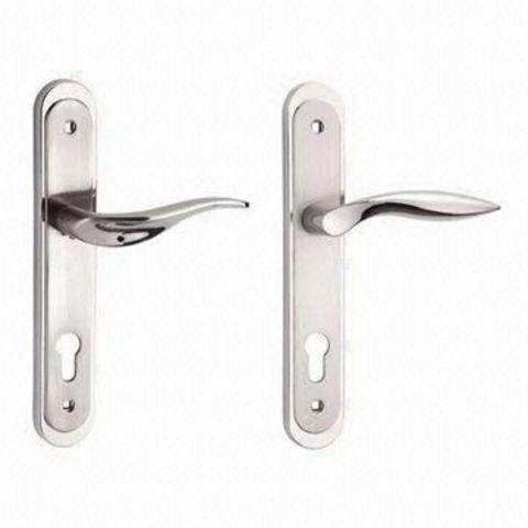 Hong Kong SAR Long Plate Door Handles, Made of Zinc Alloy on Global ...