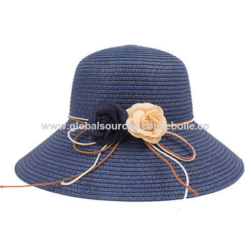 834267177f0 China Beach Sun Paper Straw Hat from Yiwu Manufacturer  Ebolle ...