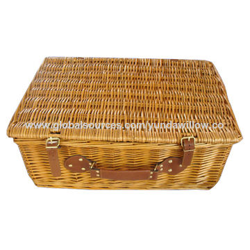 online buy wholesale large decorative baskets from china.htm china wholesale bulk cheap wicker picnic basket with fabric and  china wholesale bulk cheap wicker
