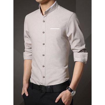 c361628b6 ... China Camisa de vestir antiarrugas respirable envuelta larga de la camisa  sport de los hombres de ...