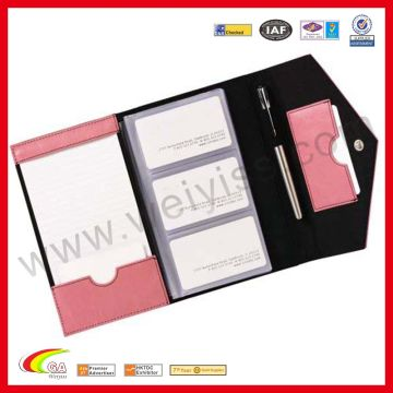 China Product Categories Gt Leather Portfolio Business Card Holder Notepad