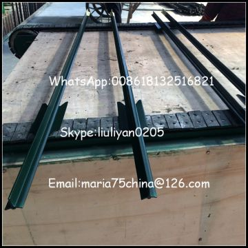 Wholesale green bitumen 10 ft t fence post with clips Astm
