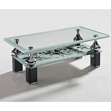 China Luxury Heals Coffee Table Small Tempered Glass Centre Table Modern  Furniture For Living Room