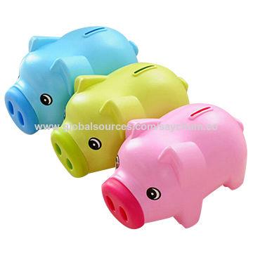 China Portable Cute Plastic Piggy Bank Saving Cash Coin Money Box Children Toy Kids S Gifts