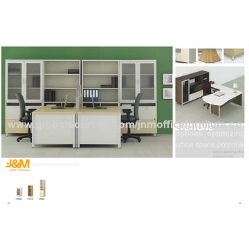Executive Office Desk, High Glossy Painting, Made of Wood and Metal, Modern Style