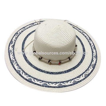 94d2dece7ce66e China Fashionable Women's Beach Straw Hats, Wide Brim Design, Decorated  with Jacquard Weave ...