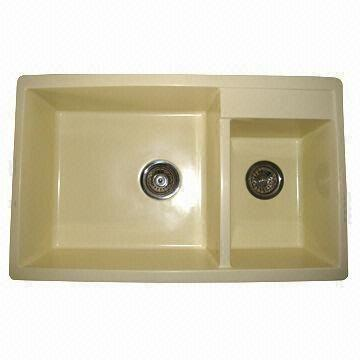 Kitchen Sink, Scratch-resistant, Made of 80% Granite and 20% Resin ...