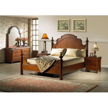 Vietnam Wooden Bedroom Furniture Set Luxury Made In