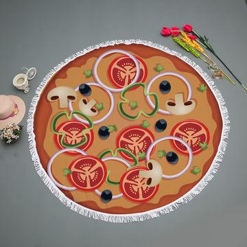 a70911e6acf3 ... China Donut Pizza Printed Microfiber Round beach towel Yoga Mats ...