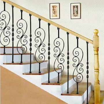 China Practical Upscale Wrought Iron Indoor Stairs