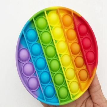 Push Pop Pop Fidget Toy Push Pop Bubble Sensory Fidget Toy Unicorn, Rainbow Push Pop Bubble Fidget
