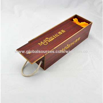 Factory Price Wooden Wine Gift Box Mdf Wood Wine Case Red