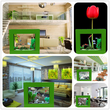 All in one aquarium fish tank for home decor with LED light