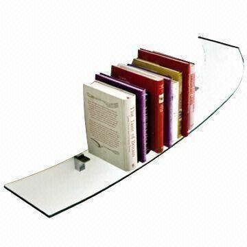 Wall Shelf, Made of Float Tempered Glass, Polished Edges and