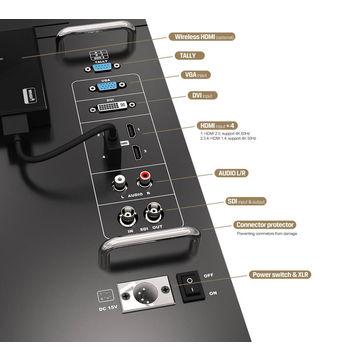 "23.8"" 6G-SDI 4K Broadcasting Monitor with HDMI, SDI Input by lilliput"