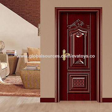 China 2016 brand new wooden steel single door design for Wood door design 2016
