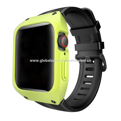 the latest 0336a 191cd China Iwatch Series 4 44mm Silicone Band with Case Replacement Band ...