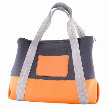 Huge Shoulder Beach Bag, Made of Neoprene, with Gray Color Nylon ...