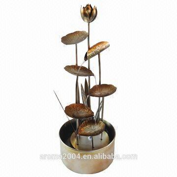 Metal Art Garden Decoration Fountain Metal Flower Lotus With Pump