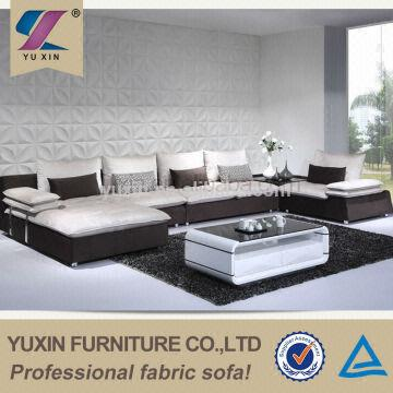 home big U shape fabric sofa set/home fabric big sofa set ...