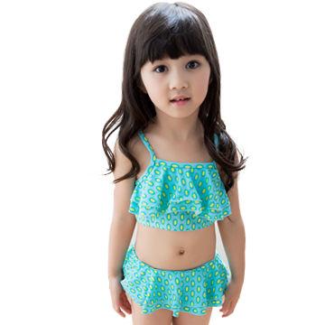 474b36583e Kids girls micro bikini with yellow spot pattern | Global Sources
