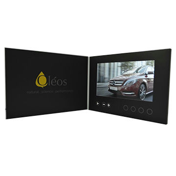 China Promotional Lcd Screen E Greeting Cards Video Brochure
