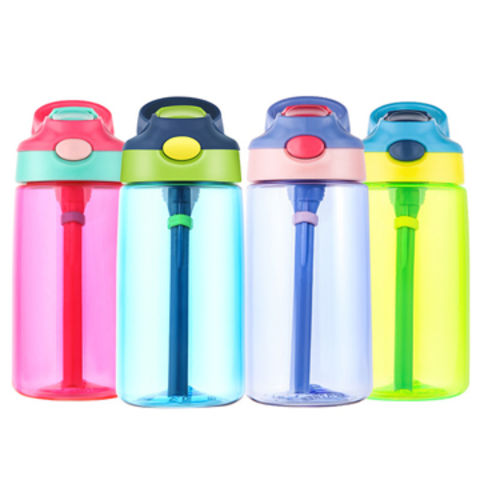 d45f88ad651 China FDA pass BPA Free Plastic Kids Children Water Bottle With Straw ...