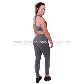 1570e9d50 China Ladies fitness spandex gym wear yoga suits Dark grey new ...