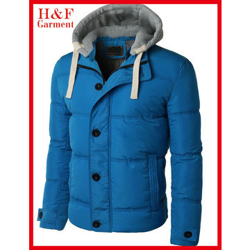 China 2015 Fashion Design Men's Jacket, Blue Body Polyester Outshell/Custom Design/Label/Size/Color/Logo