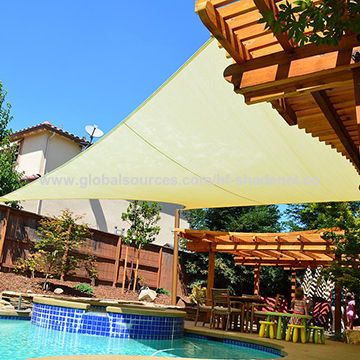 Swimming pool sun shade sail | Global Sources