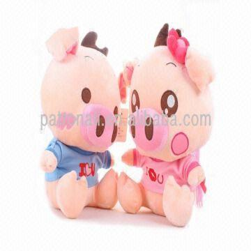 China Lovely Plush Toy Couple Pig Soft Stuffed Mcdull Cute Birthday Gift