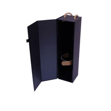 Blue Matt Paper Boxes For Single Wine Box Wine Glasses Champagne