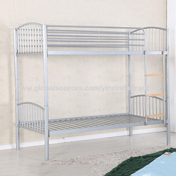 China Iron bunk bed for UK market, heavy duty steel bed frame, bunk ...