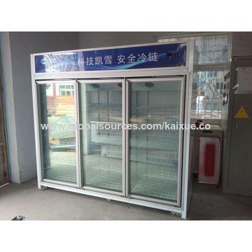Remote Multi Glass Door Multi Deck Display Freezer Global Sources