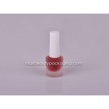 White injection nail polish cap frosted nail polish bottle flat ...