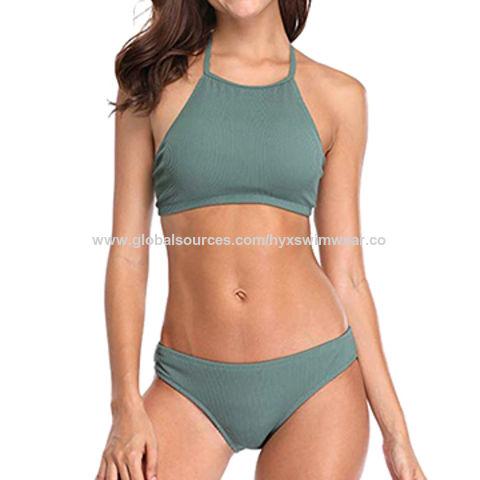 956ad6c58694c China Women's Halter Criss Cross Wrap Bikini Set on Global Sources