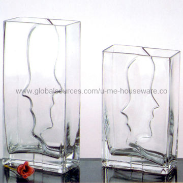 China Face To Face Glass Vase Best Choice For Wedding Or