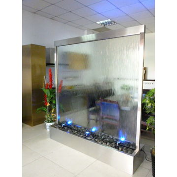 China Stainless Steel Water Fountain Indoor Gl Waterf