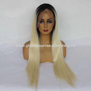 China Synthetic full lace wig from Guangzhou