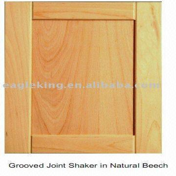 China Natural Beech Shaker Solid Wood Cabinet Door