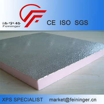 Xps Foam Board with Aluminum Foil, extruded aluminum