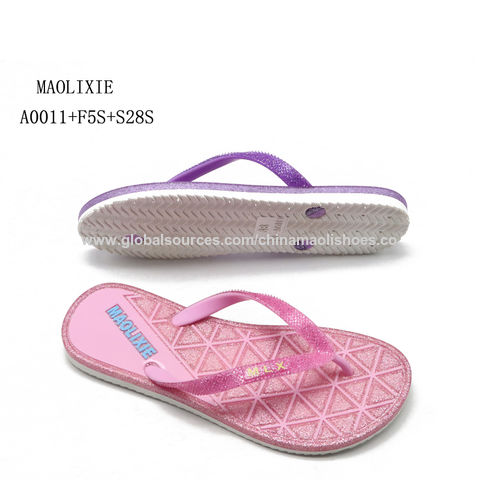 07ecfe24d China Summer new style fancy flat slipper sandals for women ladies flip  flops ...