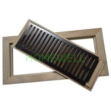 China red oak flush mount floor vent register with metal damper